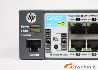 hp procurve switch 2620 48 poe j9627a 885631711927 ebay. Black Bedroom Furniture Sets. Home Design Ideas